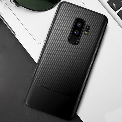 For Samsung Galaxy S9 S9 Plus Back Cover Carbon Fiber Shockproof Soft TPU Case