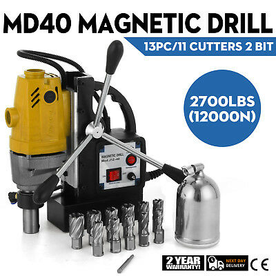 """MD40 Magnetic Drill Press 11 PC 1"""" HSS Annular Cutters Evolution Reaming 1100W"""