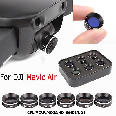For DJI Mavic Air ND4 ND8 ND16 ND32 CPL MCUV Waterproof Camera HD Lens Filters