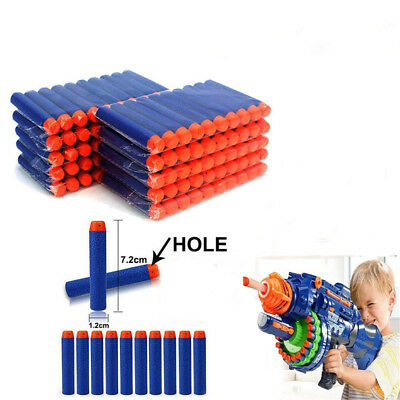 10x Round Head Bullets Toy Refill Gun Darts Blasters for Elite NERF N-Strike  XA