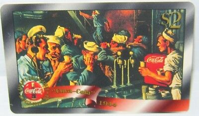 RARE GOLD $2 Promo on back chase Coca Cola Phone Card #13 Sprint US 1996 COKE