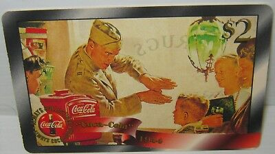 RARE GOLD $2 Parallel chase Coca Cola Phone Card #12 Sprint US 1996 COKE Soldier