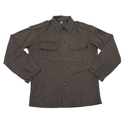Genuine Austrian Army Olive Drab Vintage Shirt - Unused Army Surplus
