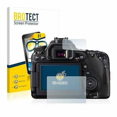 Canon EOS 80D, 2 x BROTECT® HD-Clear Screen Protector, hard-coated Crystal-clear