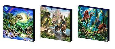 DINOSAURS jurassic CANVAS WALL ART PLAQUES/PICTURES