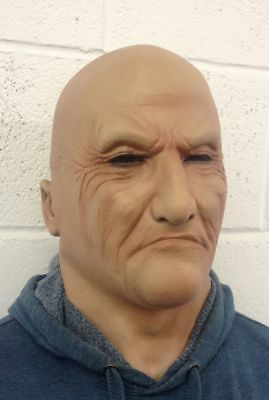 Realistic Man Latex Mask Old Male Disguise Fancy Dress Bruiser Bouncer