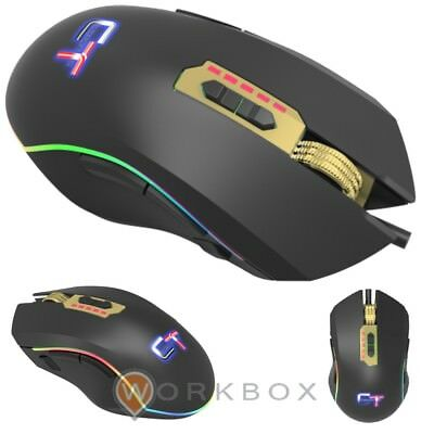 MOUSE GAMING CTesports KROM GOLD 5000 12000 DPI LED RAINBOW 11 TASTI