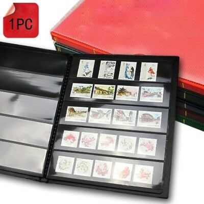 1 X Plastic Stamp Album Holder Blank Collection Stock Book Souvenir Gift Vintage