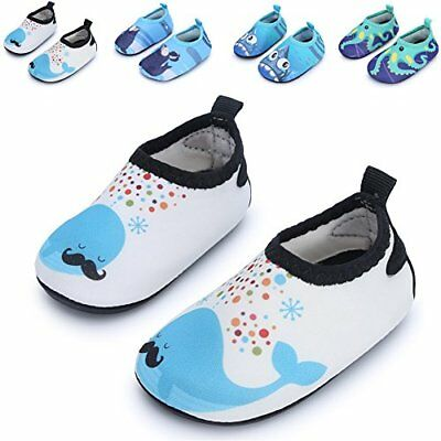 JIASUQI Baby Boys and Girls Barefoot Swim Water Skin Shoes Aqua Socks For Beach