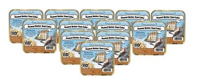12 Pack Pine Tree Farms Peanut Butter Suet Cake 12 oz. 1110 Made in USA