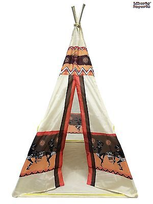 Kids Indian Teepee Tent Portable Indoor Outdoor Playhouse Tent US  sc 1 st  PicClick & INDIAN KIDS Play Tent Teepee Children Indoor Outdoor Portable ...