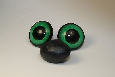 Amigurumi Safety eyes and nose 12 mm green stuffed animal toys crafts bears