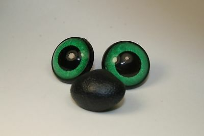 Amigurumi Safety eyes and nose 24 mm green stuffed animal toys crafts bears