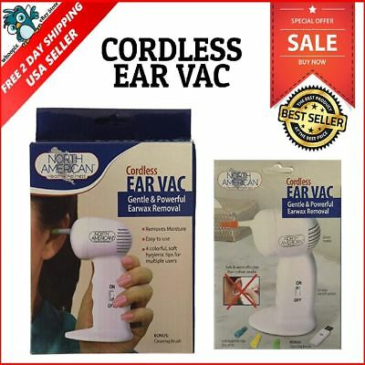 Cordless Ear Wax Cleaner Remover Vacuum Tip Removal Painless Tool Suction Best