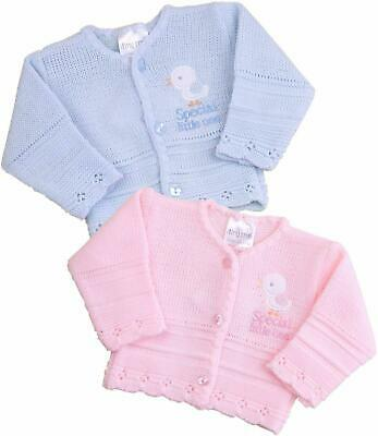 BABYPREM Baby Clothes Premature Tiny Baby Pink Blue Cardigan Cardie 3-5lb 5-8lb