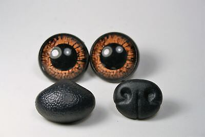 Safety eyes for toys and nose 14 mm Brown stuffed animal amigurumi crafts