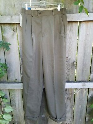 NEW NWT - Dockers Lincoln Pant Dress Cuffed Pleated Green 30x32 Relaxed Fit