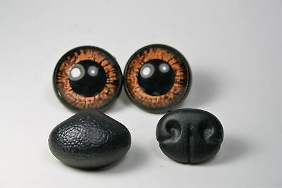 Safety eyes for toys and nose 24 mm Brown stuffed animal amigurumi crafts