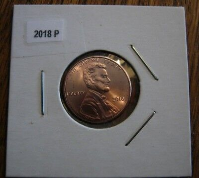 2018 P Lincoln Shield Penny - Uncirculated One Cent Coin - Philadelhia Mint