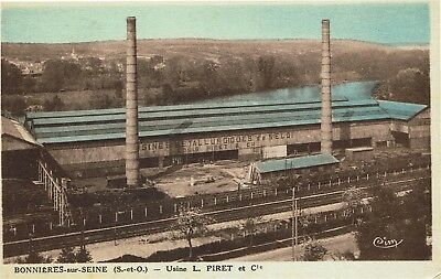 CPA -Carte postale - FRANCE - BONNIERES - Usine PIRET (iv 257)