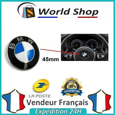 Sigle BMW 45 mm volant logo embleme badge 45mm 1 3 4 5 6 M M3 M5 X1 X3 X5 SERIE