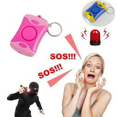 Personal Safety Alarm Emergency Self Defense Anti-Attack With Light Keychain new