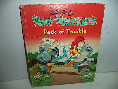 Woody Woodpecker, Tell-A-Tales, Kids Hardcover Book 1951 VG Condition