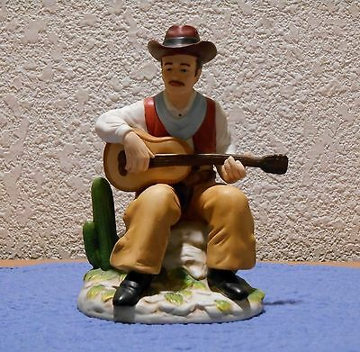 Homco Cowboy Sitting Playing Guitar Figurine #1472