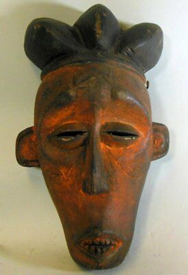 Antique Vtg CHOKWE Mask Africa Zaire Congo Hand Carved Female