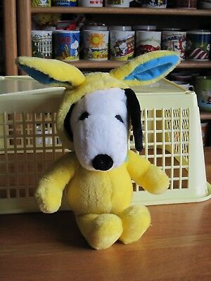 """Snoopy / Peanuts Plush Toy  Lot Easter Beagle 12"""" Tall Yellow"""