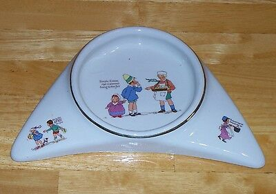 Vintage Underwood's High Chair Baby Plate dish Pat'd 1912 nursery rhymes china