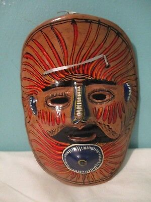 vintage Clay pottery mask Mexico