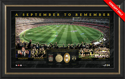 Richmond Tigers – September to Remember Panoramic Framed $299 Dustin Martin