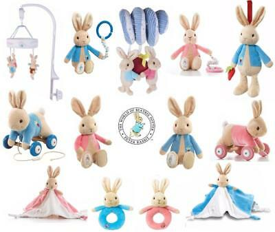 Peter Rabbit / Flopsy: Rattle  Spiral 1st Soft Toy Comforter  Pull Along  Mobile