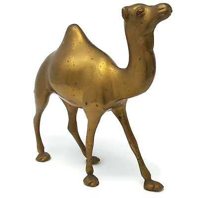 Brass Camel Figurine 8.5 inches tall Walking Vintage Walk Like a Camel