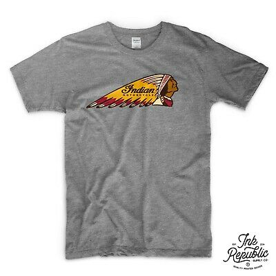 INDIAN MOTORCYCLE CHIEF T-SHIRT biker classic USA vintage cafe racer motorbike