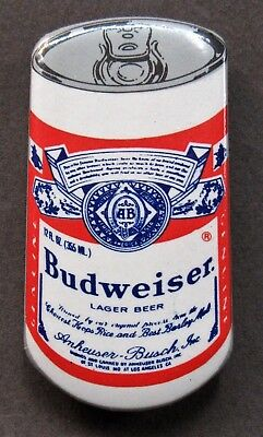 1980's BUDWEISER CAN figural hydroplane boat racing pinback button