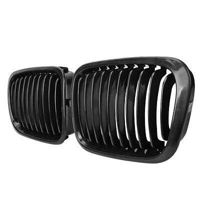 Glossy Black Front Kidney Grill Grille For 98-01 BMW E46 3 Series Sedan 4 Doors