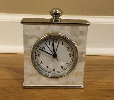 NEW Pottery Barn Mother Of Pearl Clock **issue**
