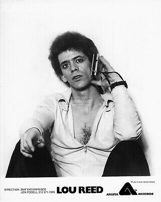 Lou Reed Rock Musician - 8X10 Arista Records Publicity Photo (Az769)