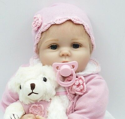 "22"" Reborn Baby Dolls Handmade Lifelike Cute Baby Reborn Doll Soft Body Toy Gift"