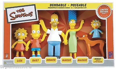 Simpsons Family Bendable Figures-New in Packaging