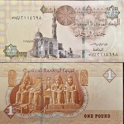 C) Egypt Bank Note 1 Pound Unc Nd 2016