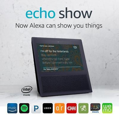 Amazon Echo Show Speaker Touch Screen - Alexa, Recipes, Music, Security Cams