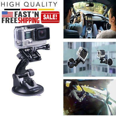 Car Windshield Glass Suction Cup Mount For GoPro Hero 5 4 3 2 Action Camera New