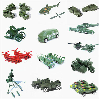 Varoius Military Truck Gun Weapon Model Army Men Toy Soldier Accessoryies