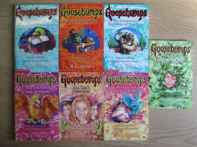 7  Set of R. L. Stine Goosebumps: Be Careful What You Wish For / You Can't Scare