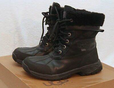 604e8c55f05 UGG KIDS WATERPROOF Boots K Butte 5209 K Black Gently Used Size US 4