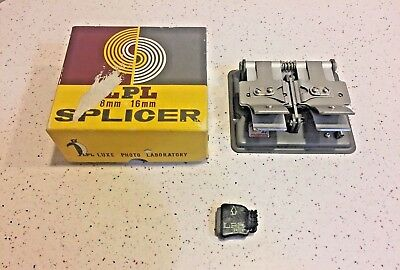 Movie Film Splicer 8-16Mm Luxe Photo Laboratory Lpl Box & Man
