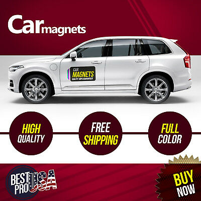 Custom Car Magnets 12x24 Magnetic Auto Truck Signs full color